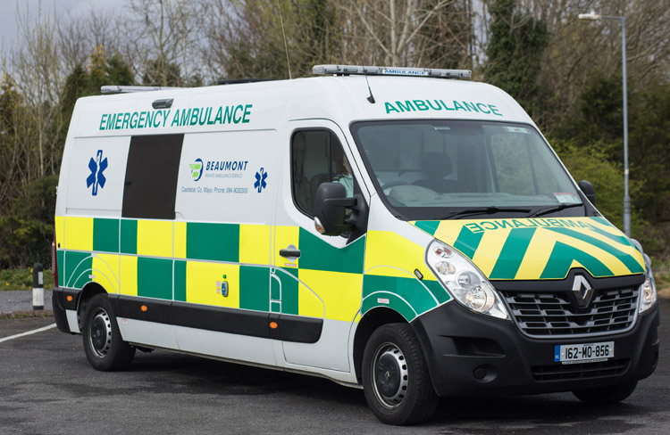 Beaumont Private Ambulance Vehicles